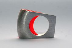 """Ring 12"", silver, plastic"