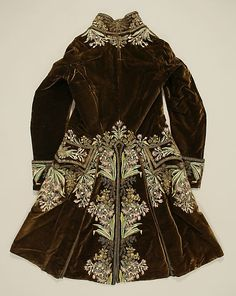 1750-75 Court Suit (back) - French - Silk and Metal thread - The MET