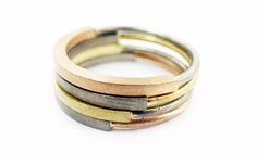 #rings made of different #gold #colors #minimaljewels