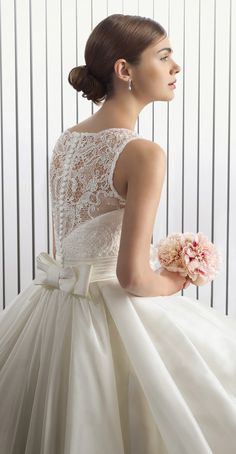 Two by Rosa Clara 2015 Bridal Collection -wedding dress 2015 Wedding Dresses, Wedding Attire, Gown Wedding, Lace Wedding, Rosa Clara Bridal, Princess Ball Gowns, Princess Wedding, Beautiful Wedding Gowns, Sophisticated Bride