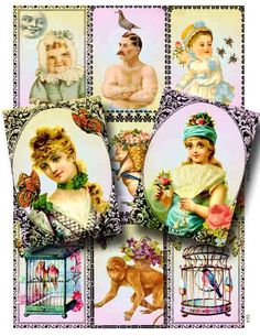 Victorian Frolic Digital Collage Sheet Download and by GalleryCat, $3.50