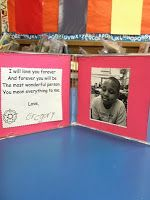 Mother's Day frame and letter to mom using old CD cases.