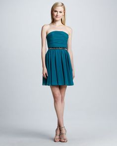 Erin Fetherston Strapless Fit-and-Flare Dress - Neiman Marcus Strapless Cocktail Dresses, Strapless Dress Formal, Formal Dresses, Fit And Flare, Cool Style, My Style, Dress P, Neiman Marcus, Wedding Styles