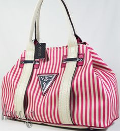 Guess? American Dream Pink Stripes, Tote Handbags, Purses And Bags, Diaper Bag, Wallets, Scarves, Satchel, Backpacks, American
