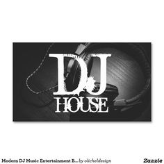 Dj music club entertainment business card dj music and modern dj music entertainment business card reheart Image collections