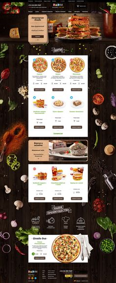 Food photography for pizza delivery website Baku on Behance