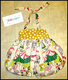 Girls+Bubble+Halter+DRESS+Circus+Big+Top+Dress+by+Little4Awhile,+$65.00