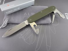 Titanium Custom Victorinox Pioneer O D Green Cerakote Swiss Army Knife Mod | eBay