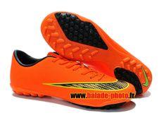 Officiel Nike Mercurial Victory V Chaussures de Football Pas Cher Pour Homme Orange Noir Jaune