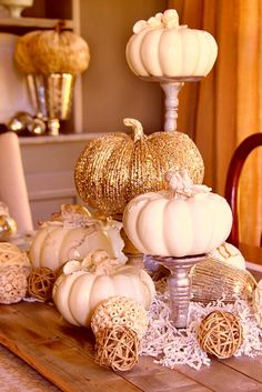 Gold and cream colored decor