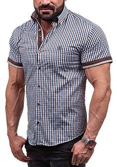 Amazon BOLF Herren Hemd Casual Kurzarm Shirt Slim Fit Freizeithemd Casual  6540 Dunkelblau M  2B2    7f226b2a73