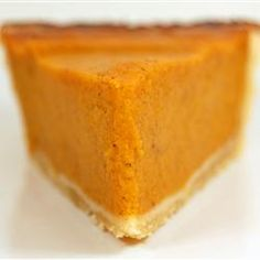 """Perfect Pumpkin Pie   """"Like"""" if you think this looks like the perfect slice of pie!"""