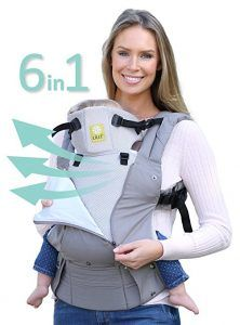 OWL PRINT on Black-EXCLUSIVE DESIGN Authentic MOBY WRAP Classic Baby Carrier