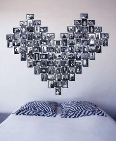 L'idée déco du dimanche : réaliser un cœur tête de lit avec des photos