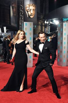 Kate Winslet and Michael Fassbender at BAFTAs 2016!