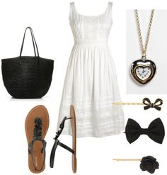 Products: Shoes – Wet Seal, Bag – J. Crew, Dress – Delia's, Necklace – Urban Outfitters, Bobby Pins – Forever 21