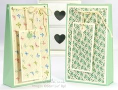 Stampin' Up! UK Demonstrator Pootles - Pretty Petals Gift Bag Box Tutorial