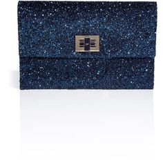 ANYA HINDMARCH Midnight Glitter Valorie Clutch ($550) ❤ liked on Polyvore