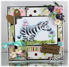 Spring Zebra, Crissy Armstrong image for Whimsy stamps