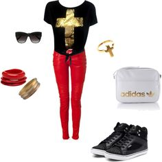 A fashion look from September 2012 featuring tie crop top, leather jeans and black patent shoes. Browse and shop related looks. Shoe Bag, Stuff To Buy, Bags, Shopping, Accessories, Collection, Design, Fashion, Colors