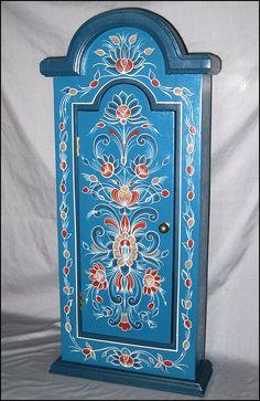 Rosemaling Wall Cabinet