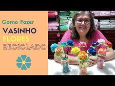 Como Fazer Vasinhos de Flores Reciclando Vidros e Lãs - YouTube