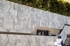 The Forest @ Pyne by Sansiri by TROP « Landscape Architecture Works Entrance Signage, Exterior Signage, Entrance Design, Entrance Ideas, Entrance Gates, Landscape Walls, Landscape Architecture, Landscape Design, Contemporary Landscape