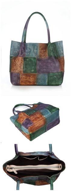 Handmade Full Grain Genuine Leather Women Tote Bag Shopping Handbag