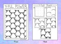 Y-Ful Power  |  Shoshiplatypus: Zentangle Album Continued Tangle Doodle, Tangle Art, Zen Doodle, Doodle Art, Doodle Patterns, Zentangle Patterns, Abstract Drawings, Doodle Drawings, Zen Art