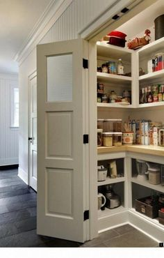53 Mind-blowing kitchen pantry design ideas 53 Mind-blowing Kitchen Pantry Design Ideas – I am so jealous of every single one of these pantries! The post 53 Mind-blowing kitchen pantry design ideas appeared first on Homemade Crafts. Kitchen Pantry Design, Diy Kitchen Storage, Pantry Storage, Kitchen Redo, New Kitchen, Kitchen Ideas, Kitchen Pantries, Pantry Shelving, Kitchen Cabinets
