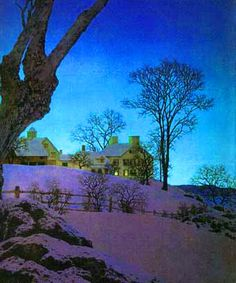 Christmas Morning by Maxfield Parrish