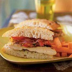 Chicken Focaccia Sandwiches Recipe | MyRecipes.com