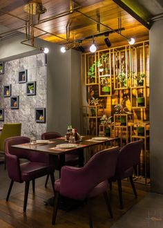 Italian Restaurant Interior With Eclectic Mix Furniture | Talking Spaces - The Architects Diary Italian Restaurant Decor, Restaurant Interior Design, Restaurant Interiors, Dining Table Design, Dining Area, Talking Space, Colorful Furniture, Design Firms, Architects