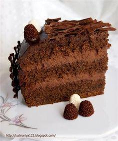 Шоколадный торт с трюфельным кремом