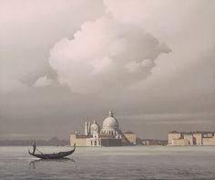 Santa Maria della Salute, Venice, Pierre De Clausade. French (1910 - 1975)