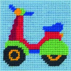 Anchor Counted Cross Stitch Starter Set for Beginners or Children Makes an ideal… Tiny Cross Stitch, Simple Cross Stitch, Cross Stitch Charts, Cross Stitch Designs, Cross Stitch Patterns, Cross Stitch Embroidery, Embroidery Patterns, Knitting Kits, Baby Knitting Patterns