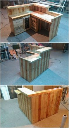 You have to polish this furniture after completing it with wooden pallets. You can make drawers to make this fixture item more functional and useful. You can use it as a computer table or as a study table.