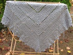 Ideal Delusions: So Simple Box Stitch Shawl