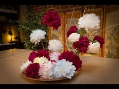 FLORES DE PAPEL .- PAPER FLOWERS - YouTube