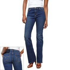 Levi's 512 perfectly slimming skinny jeans white