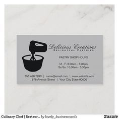 Culinary Chef | Restaurant Owner | Mixing Bowl Business Card