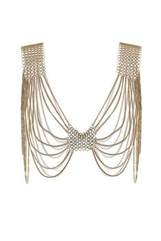 Ring Shoulder Drape Necklace $70