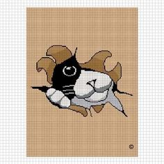 Cat out of the bag crochet afghan pattern graph chart Cross Stitching, Cross Stitch Embroidery, Cross Stitch Patterns, Bag Patterns, Mochila Crochet, Crochet Instructions, Afghan Crochet Patterns, Crochet Afghans, Crochet Projects