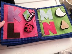 Alphabet Book quiet book.. I will make one of these some day!!!