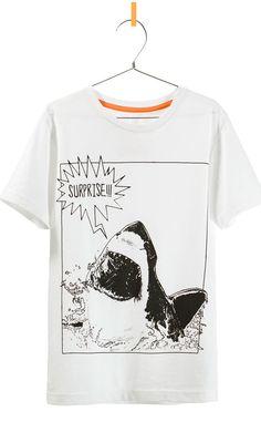 Shark Week themed shirt via E!Online