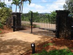 Sonoma driveway gate with Polaris solar gate opener. Galvanized and powder coated, we ship directly to you.
