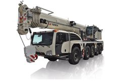Used telescopic crane available at Pfeifer Heavy Machinery. Item Number PHM-Id 07835, \ Manufacturer TEREX, Model EXPLORER 5500, Year of construction 2015, Loading (lifting) capacity (kg) 130000, Boom length maximum (m) 60, Fuel Diesel. See more at www.pfeiferheavymachinery.com.