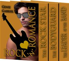 Title: Rock'n Romance Boxed Set Author: Genie Gabriel ISBN: 978-1-62420-261-2  Genre: Contemporary Romance Excerpt Heat Level: 1 Book Heat Level: 2 Buy at: Amazon  BLURB  The Rockstar  Fifteen years and many heart-wrenching experiences after their disastrous first meeting, a reformed rock star and the woman who idolized him as a teenager get a second chance to prove songs of the heart are the sweetest music of all.