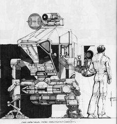 70s Sci-Fi Art: Syd Mead sketches