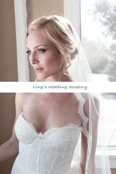 Handmade contracted white/creamy wedding veil on Etsy, CA$30.00 CAD